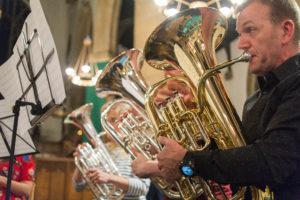 Putney and Wimbledon Brass Band euphoniums and baritones